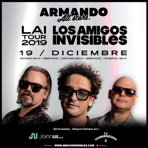 Los Amigos Invisibles cierran Tour 2019 en Bogotá